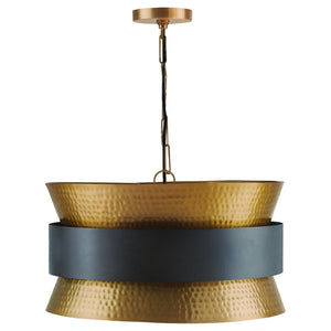 Capital Lighting Four Light Pendant 330446PZ Coastal Lighting