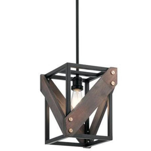 Kichler Fulton Cross Pendant 44223BK Coastal Lighting