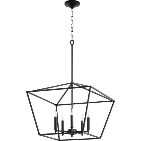 Quorum Gabriel 5 Light Chandelier 644-5-69 Noir Coastal Lighting