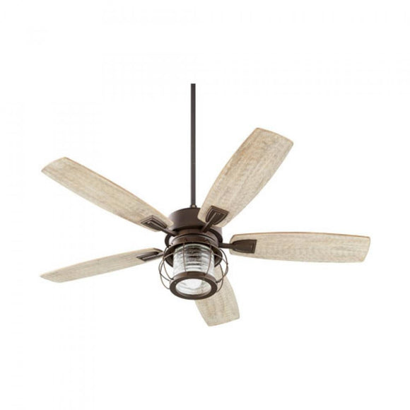 Quorum Galveston 52 Fan 3525-86 Oiled Bronze Coastal Lighting