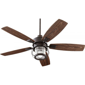 Quorum Galveston 52 Patio Fan 13525-86 Oiled Bronze Coastal Lighting