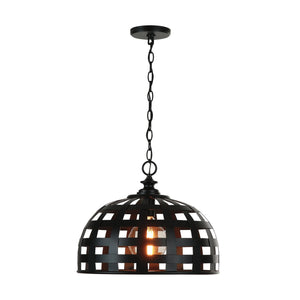 Capital Lighting Garrison One Light Pendant 332211MB Coastal Lighting