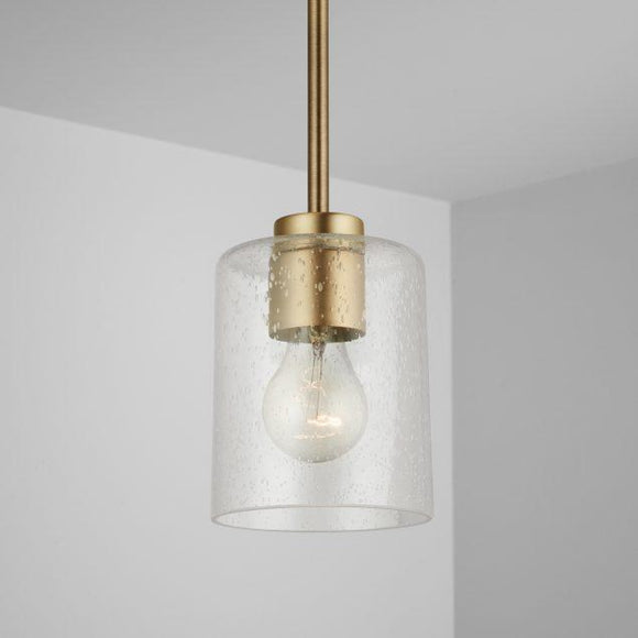 Capital Lighting Greyson 1 Light Pendant - Aged Brass 328511AD-449 Coastal Lighting