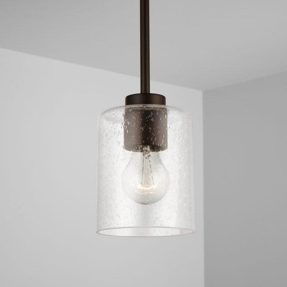 Capital Lighting Greyson 1 Light Pendant - Bronze 328511BZ-449 Coastal Lighting