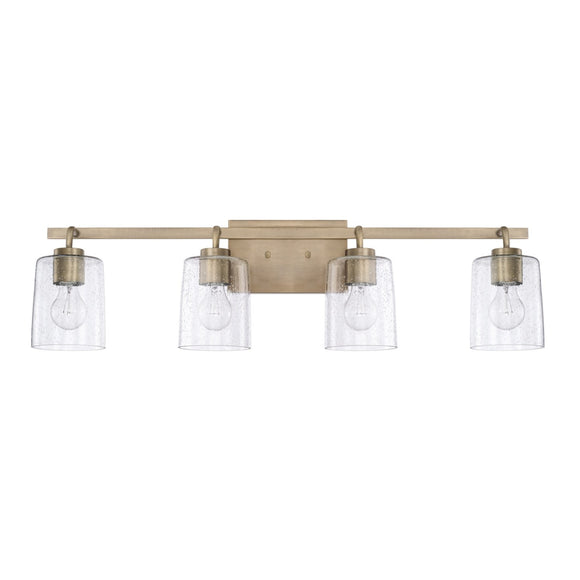 Capital Lighting Greyson Four Light Vanity Fixture 128541AD-449 Coastal Lighting