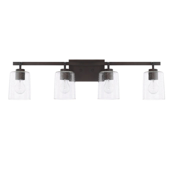 Capital Lighting Greyson Four Light Vanity Fixture 128541BZ-449 Coastal Lighting
