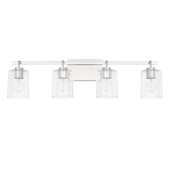 Capital Lighting Greyson Four Light Vanity Fixture 128541CH-449 Coastal Lighting