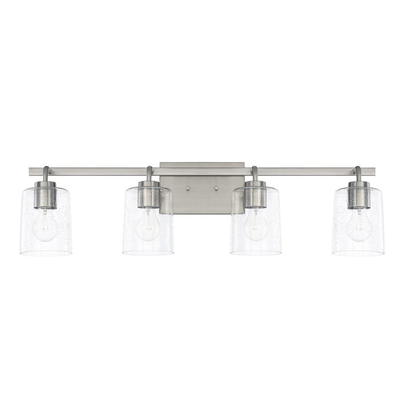 Capital Lighting Greyson Four Light Vanity Fixture 128541BN-449 Coastal Lighting