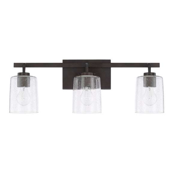 Capital Lighting Greyson Three Light Vanity Fixture 128531BZ-449 Coastal Lighting