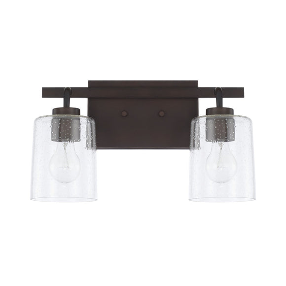 Capital Lighting Greyson Two Light Vanity Fixture 128521BZ-449 Coastal Lighting