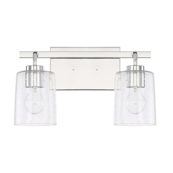 Capital Lighting Greyson Two Light Vanity Fixture 128521CH-449 Coastal Lighting