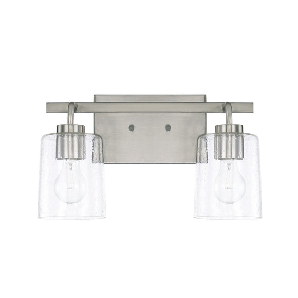 Capital Lighting Greyson Two Light Vanity Fixture 128521BN-449 Coastal Lighting