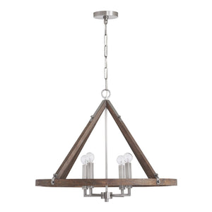 Capital Lighting 4 Light Chandelier 440141GN Coastal Lighting
