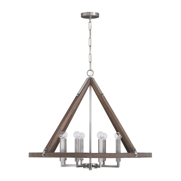Capital Lighting 8 Light Chandelier 440181GN Coastal Lighting