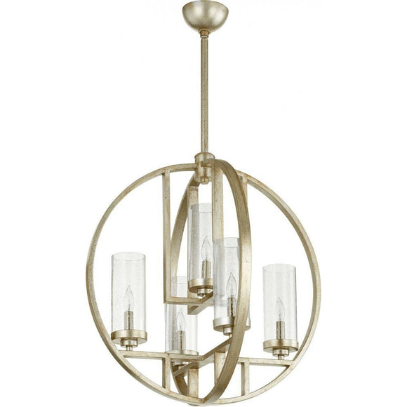 Quorum Julian 5 Light Chandelier 603-5-60 Coastal Lighting