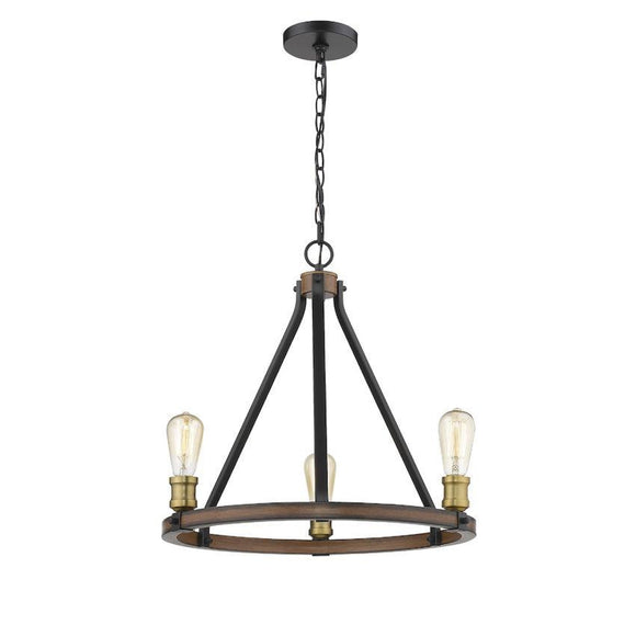 Z-Lite Kirkland 3 Light Chandelier 472-3RM Rustic Mahogany Coastal Lighting