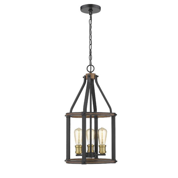 Z-Lite Kirkland 3 Light Pendant 472-3P-RM Rustic Mahogany Coastal Lighting