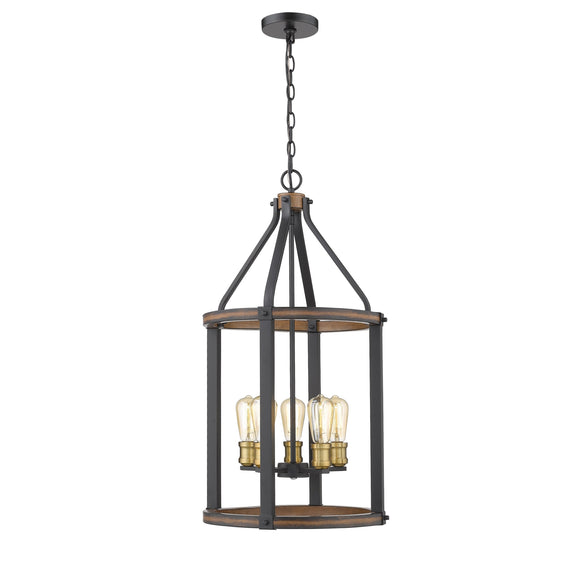 Z-Lite Kirkland 5 Light Pendant 472-5P-RM Rustic Mahogany Coastal Lighting
