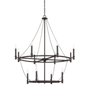 Capital Lighting Lancaster 12 Light Chandelier 528701BI Coastal Lighting