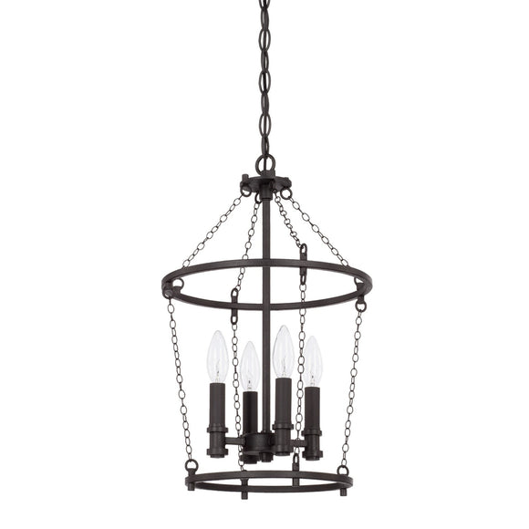 Capital Lighting Lancaster Four Light Foyer Chandelier 528741BI Coastal Lighting