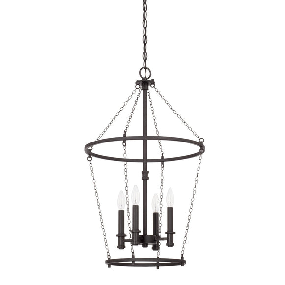 Capital Lighting Lancaster Four Light Foyer Chandelier 528742BI Coastal Lighting