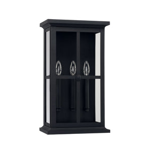 Capital Lighting Mansell Three Light Outdoor Wall Lantern 926431BK Coastal Lighting