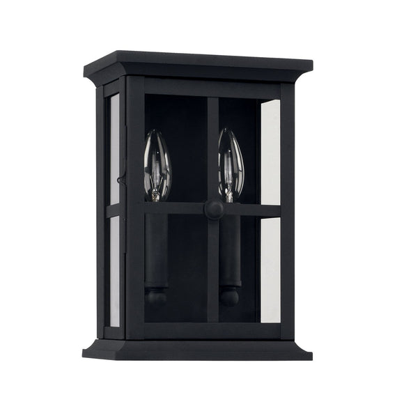 Capital Lighting Mansell Two Light Outdoor Wall Lantern 926421BK Coastal Lighting