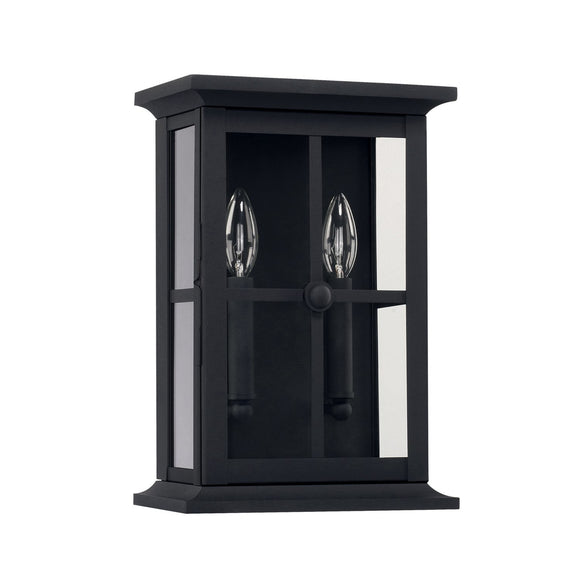 Capital Lighting Mansell Two Light Outdoor Wall Lantern 926422BK Coastal Lighting