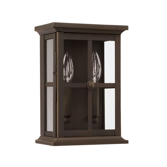 Capital Lighting Mansell Two Light Outdoor Wall Lantern 926421OZ Coastal Lighting
