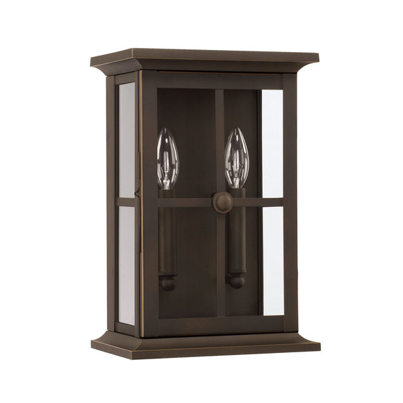 Capital Lighting Mansell Two Light Outdoor Wall Lantern 926422OZ Coastal Lighting