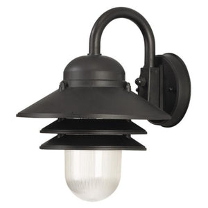 Wave Marlex Non-Corrosive Nautical Wall Mount S75V-C-BK Black Coastal Lighting