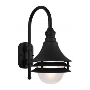 Wave Marlex Non-Corrosive Nautical Wall Mount - Large S759V-C-BK Black Coastal Lighting