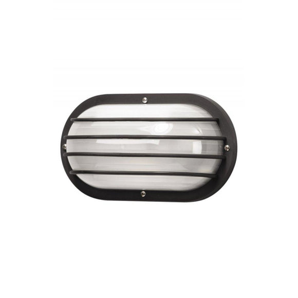 Wave Marlex Non-Corrosive Oval Nautical Wall Mount S76WF-BK Black Coastal Lighting