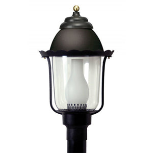 Wave Marlex Non-Corrosive Victorian Post Top 124-BK Coastal Lighting