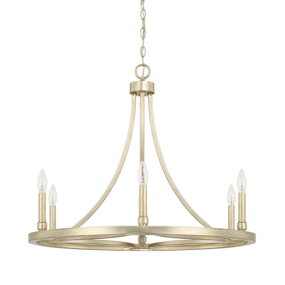 Capital Lighting Mercer Six Light Chandelier 421261WG Coastal Lighting