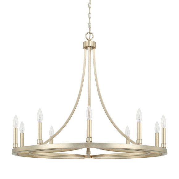 Capital Lighting Mercer Ten Light Chandelier 421201WG Coastal Lighting