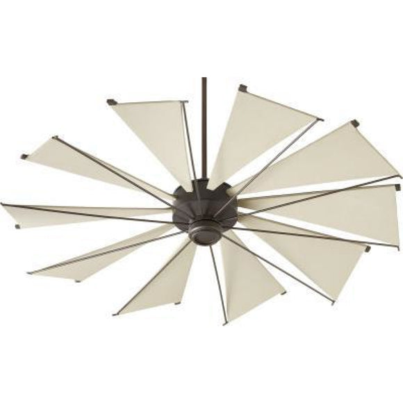 Quorum MYKONOS 60 FAN - OB 66010-86 Coastal Lighting