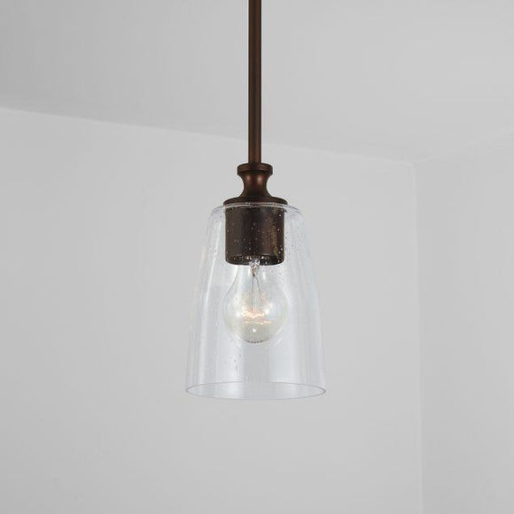Capital Lighting Myles 1 Light Pendant 340911BZ-506 Coastal Lighting