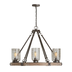 Capital Lighting Nolan Six Light Chandelier 434961UW-482 Coastal Lighting