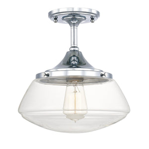 Capital Lighting One Light Ceiling Mount 3533CH-134 Coastal Lighting