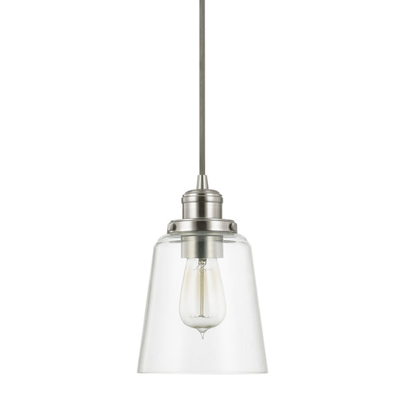 Capital Lighting One Light Mini-Pendant 3718BN-135 Coastal Lighting