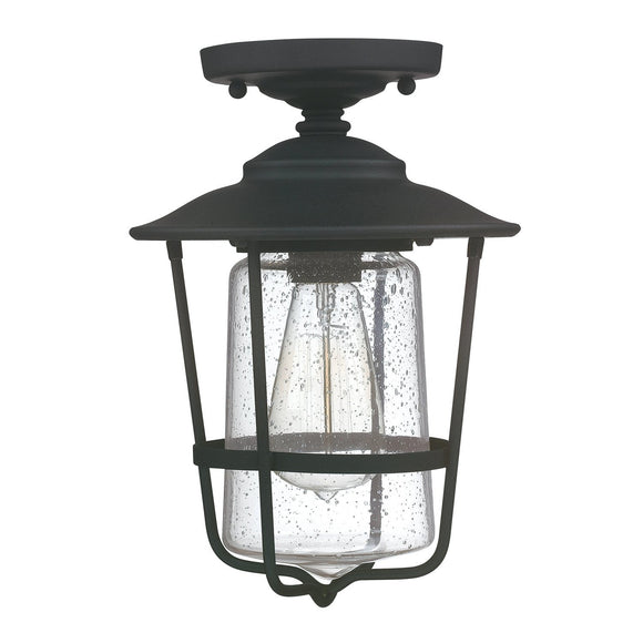 Capital Lighting One Light Outdoor Ceiling 9607BK Coastal Lighting