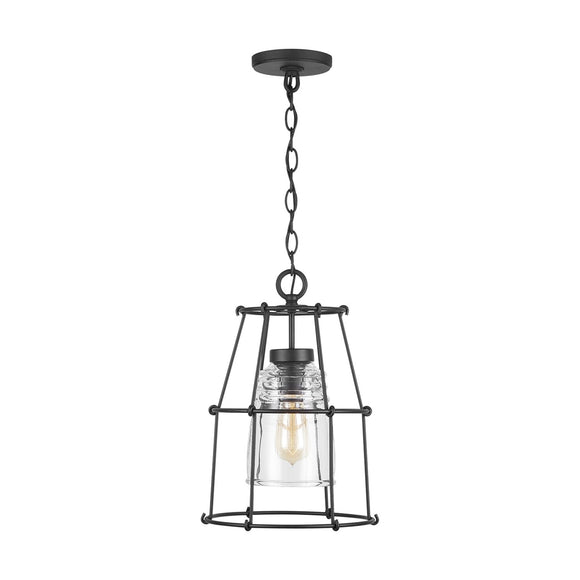 Capital Lighting One Light Pendant 929711BK-462 Coastal Lighting