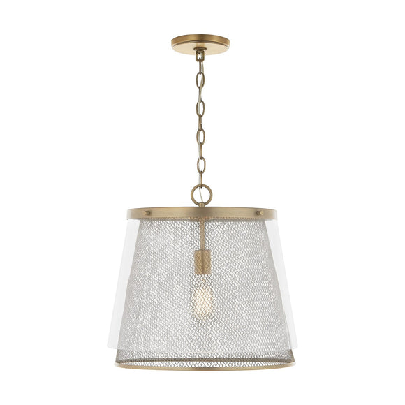 Capital Lighting One Light Pendant 332312AD Coastal Lighting