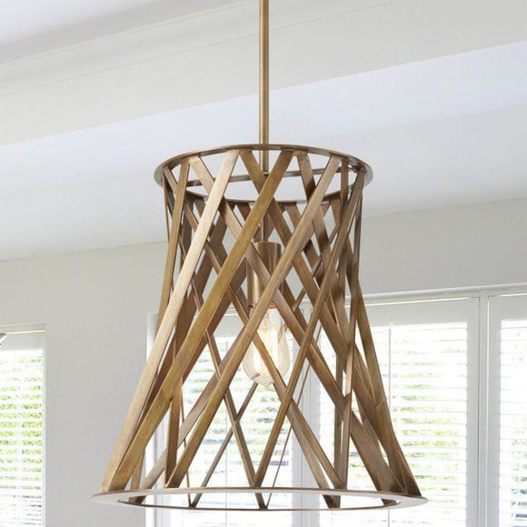 Capital Lighting One Light Pendant 330415PA Coastal Lighting