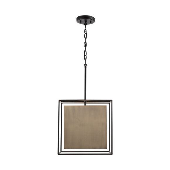 Capital Lighting One Light Pendant 330911AB Coastal Lighting