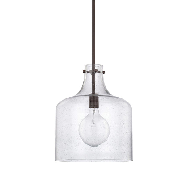 Capital Lighting One Light Pendant 325712BZ Coastal Lighting