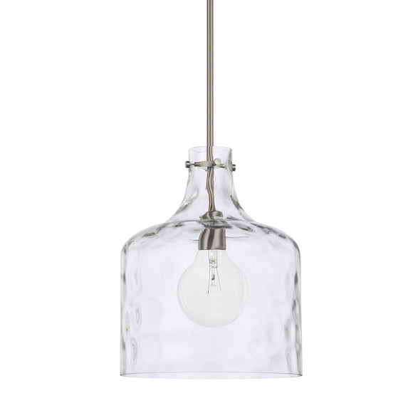 Capital Lighting One Light Pendant 325717BN Coastal Lighting