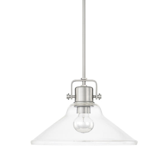 Capital Lighting One Light Pendant 319913BN Coastal Lighting