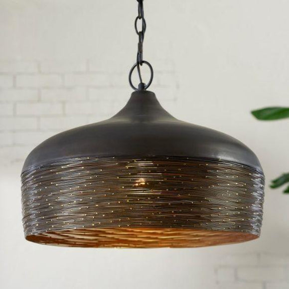 Capital Lighting One Light Pendant 330512GI Coastal Lighting